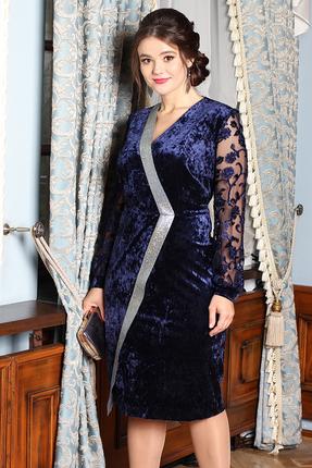 Платье Мода-Юрс 2526 темно-синий