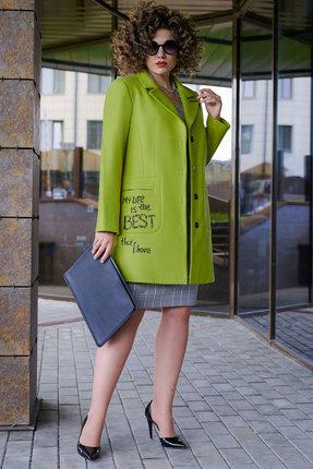 Пальто Erika Style 1054-1 фисташка