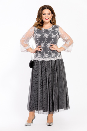 Платье TEZA 1447 серые тона
