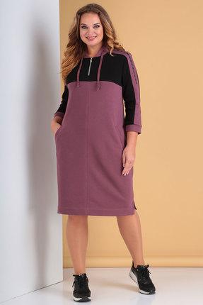 Платье Тэнси 296 пепельно-розовый