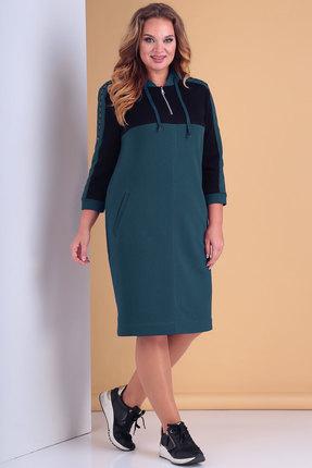 Платье Тэнси 296 тёмно-бирюзовый