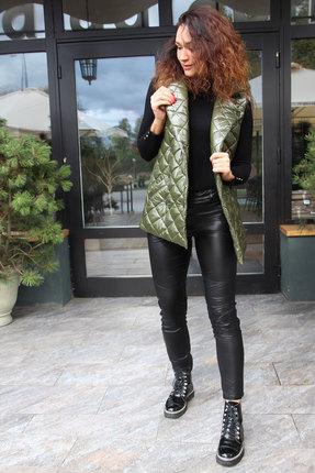 Комплект брючный Juliet Style D184 хаки с черным