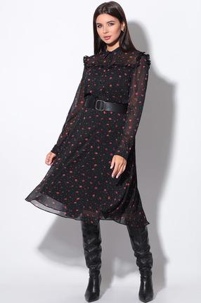 Платье LeNata 11152 черный