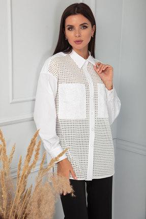 Блузка SandyNa 13867 бело-молочный