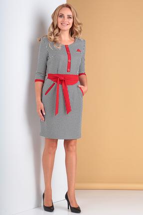 Платье Moda-Versal 1668 черный+красный