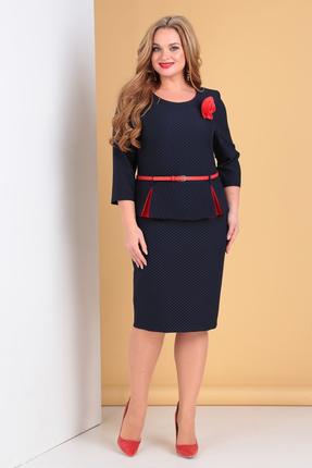 Платье Moda-Versal 2061 синий+красный