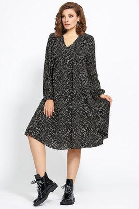 Платье Мублиз 456 черные тона