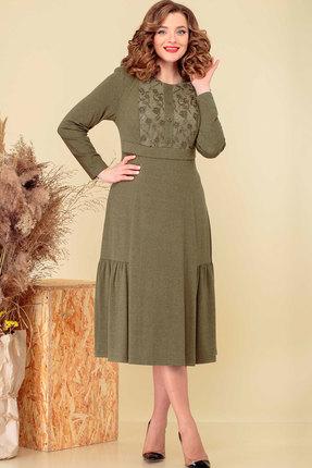 Платье Асолия 2501 хаки
