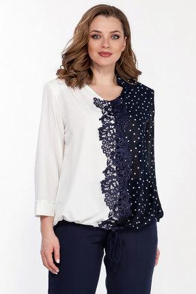 Блузка Belinga 5080 синий с белым