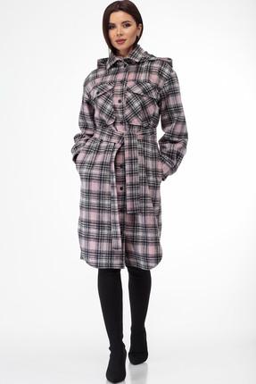 Пальто Anelli 935 лиловые тона