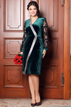 Платье Мода-Юрс 2526 малахит