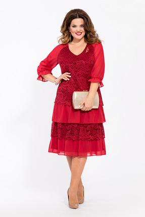 Платье TEZA 1464 красные тона