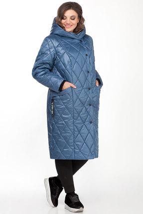 Пальто БагираАнТа 656 голубой