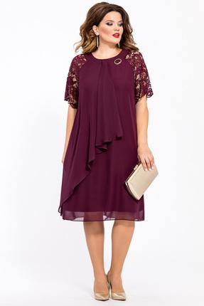 Платье TEZA 1554 бордовый