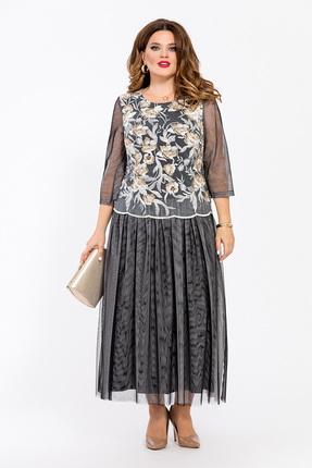Платье TEZA 1782 серые тона