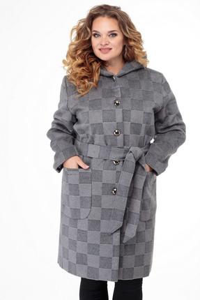 Пальто БелЭльСтиль 739 серый