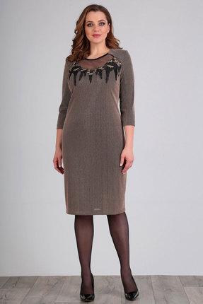 Платье Jurimex 2372 кофейные тона