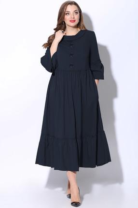Платье LeNata 12071 темно-синий
