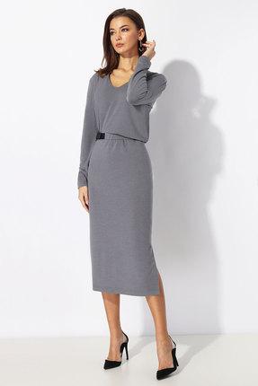 Платье Миа Мода 1198-1 серый