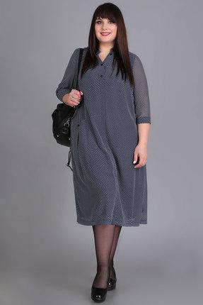 Платье Algranda 3642 синие тона