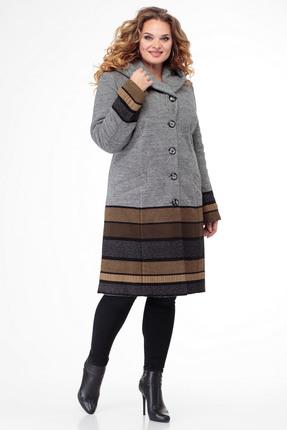 Пальто БелЭльСтиль 765 серо-коричневый