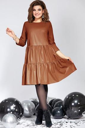 Платье Милора-Стиль 822 коричневые тона