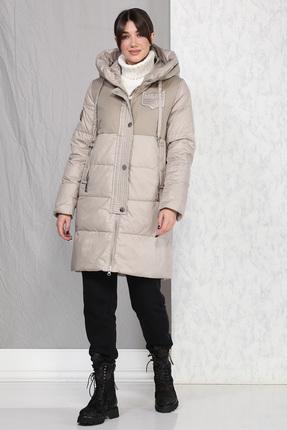 Пальто B&F 4016 бежевые тона