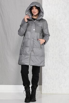 Пальто B&F 4016 серый
