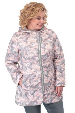 Куртка БелЭльСтиль 776 розовый с серым