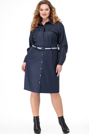 Платье Anelli 918 синие тона