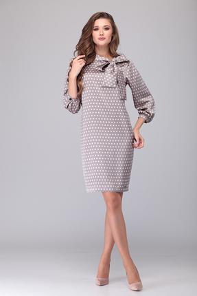 Платье Verita Moda 2085 серый с розовым