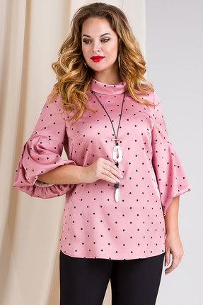 Блузка Лилиана 888 розовые тона