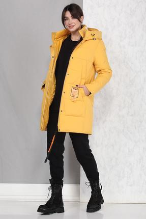Пальто B&F 4017 желтые тона