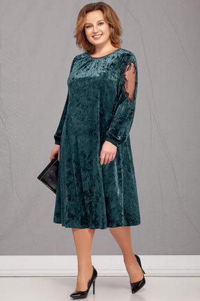 Платье Ivelta plus 1619 бирюза