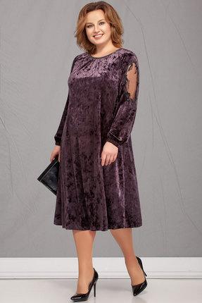 Платье Ivelta plus 1619 сливовые тона