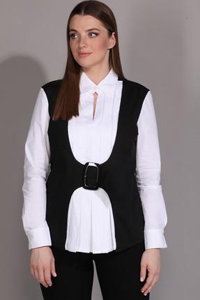 Блузка La Prima 0292 черный с белым