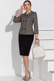 Комплект юбочный Lissana 4233 черный с серым