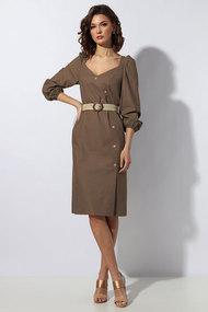 Платье Миа Мода 1148-5 коричневые тона