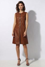 Сарафан Миа Мода 1212-3 коричневые тона
