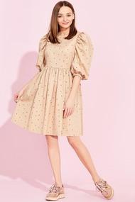 Платье Милора-Стиль 885 Бежевые тона