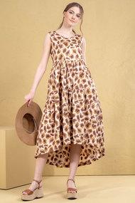 Платье Deesses 1057 капучино с молочным
