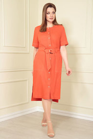 Платье Andrea Style 0362/6 оранжевые тона