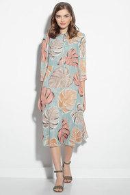 Платье Gizart 7348-1 бирюза