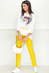 Комплект брючный LeNata 21184 желтый с белым