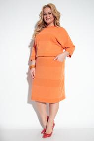 Платье Michel Chic 2057 оранжевые тона