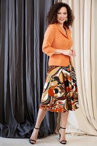 Комплект плательный Мода-Юрс 2527-1 оранжевые тона