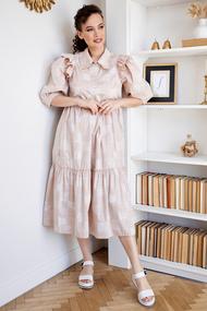 Платье Мода-Юрс 2662 бежевые тона