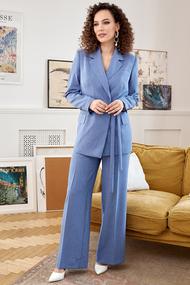 Комплект брючный Мода-Юрс 2669 голубой