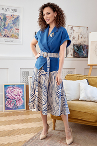 Комплект юбочный Мода-Юрс 2641 светло синий