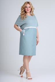 Платье Диамант 1662 голубые тона